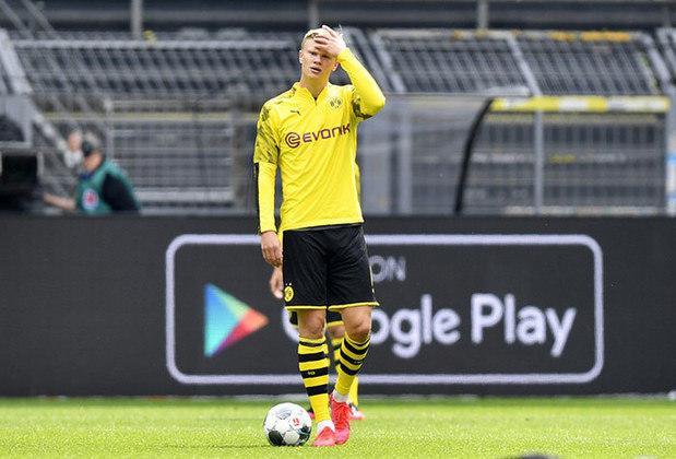 Pela Copa da Alemanha, Haaland também balançou as redes no único jogo que disputou