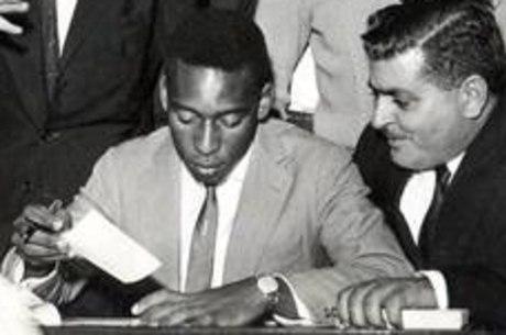 Pelé e o empresário Pepe Gordo