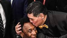 Pelé esconde suas fraquezas. Até pelo triste fim de Diego Maradona