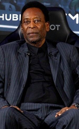 Pelé, durante evento de seu patrocinador