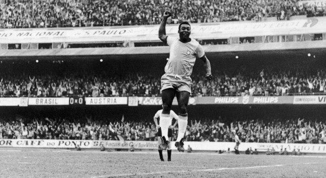Pelé: contra a Áustria, em 1971, o último gol pela seleção
