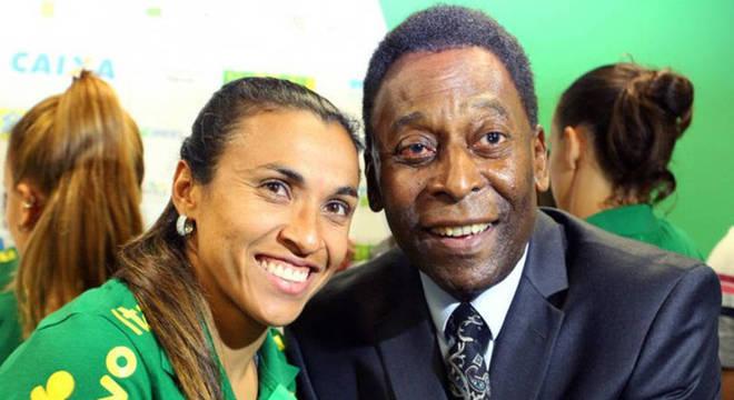 Resultado de imagem para Pelé Marta