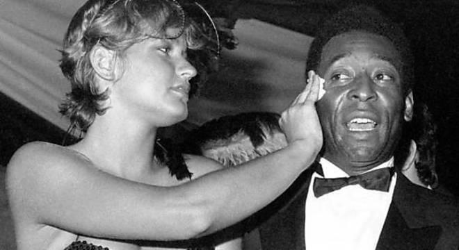 Xuxa, uma das inúmeras namoradas de Pelé. Sua vida amorosa foi intensa
