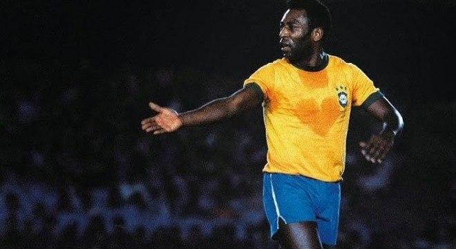 O suor em forma de coração. A melhor representação de Pelé pela Seleção
