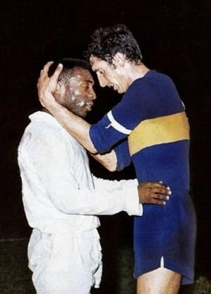 Pelé e Rattin. Santos e Boca. 1963