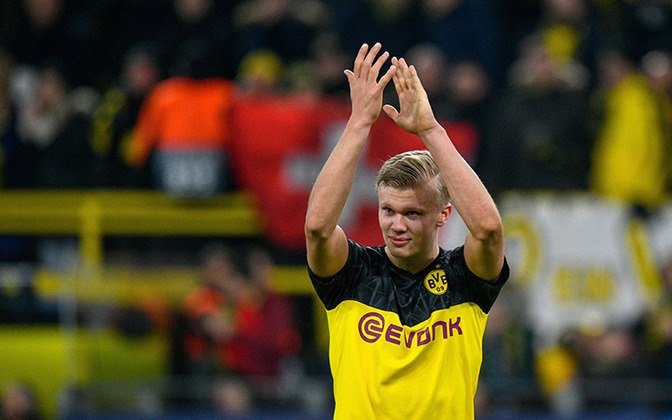 Pelo Borussia Dortmund, onde chegou na virada do ano, Haaland soma 13 gols em 12 jogos