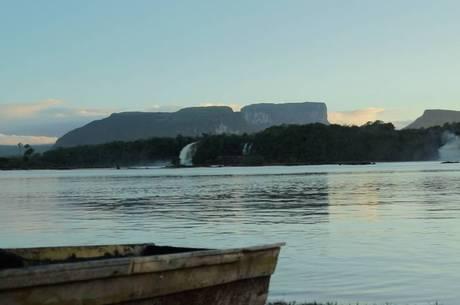A paisagem natural é belíssima no Parque Nacional Canaima