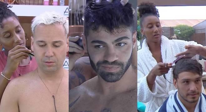 Vários peões já mudaram o corte de cabelo com a ajuda de outros confinados