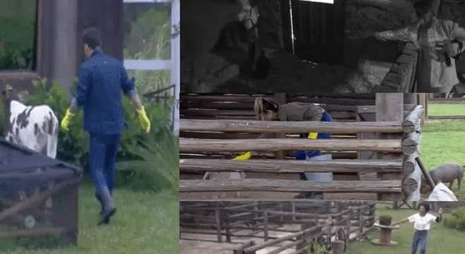 """Os peões já estão acostumados a levar """"olé"""" dos animais de A Fazenda"""
