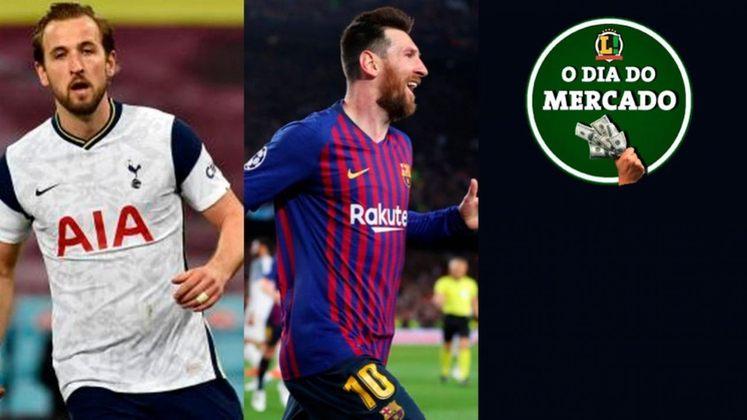 Pep Guardiola e o Manchester City seguem interessados na contratação de Harry Kane ainda nessa janela. Lionel Messi inicia contatos com novo clube e que deve ser o seu destino. Meia da base do São Paulo é alvo do West Ham e pode deixar o Tricolor. Tudo isso e muito mais no Dia do Mercado de sexta-feira.