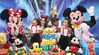 Filhos gêmeos de Pepê dão show de fofura em festa de aniversário (Thiago Duran/AgNews)