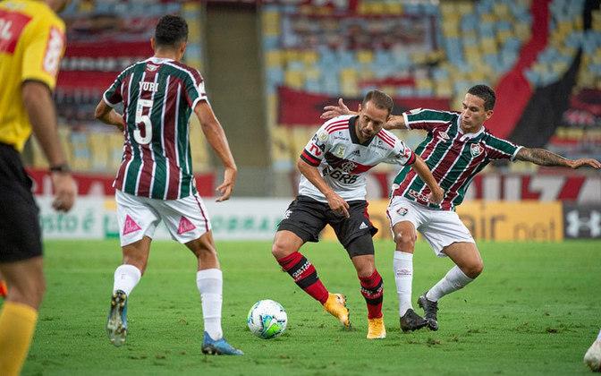Perdeu a final da Taça Rio de 2020: Flamengo 1 (2) x 1 (3) Fluminense.