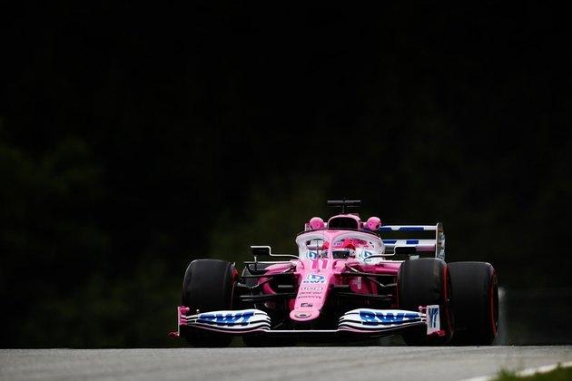 Pérez andou bem com a Racing Point, e terminou o dia incomodando a Mercedes