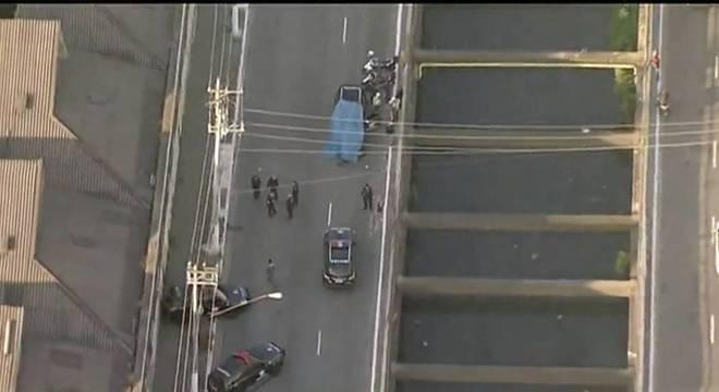 Policial militar é atropelado por viatura do Garra na avenida Teresa Cristina