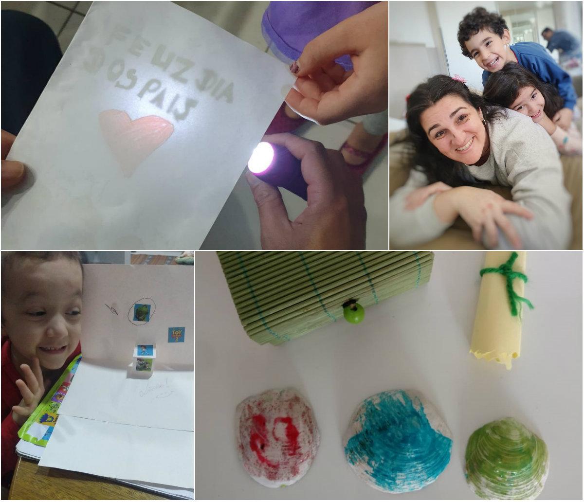 Mães e filhos abusam da criatividade para dar um presente especial aos pais