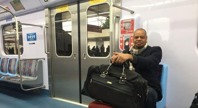 Psicólogo, Mauro Brito, 51, utilizou o trem com destino ao Aeroporto de Guarulhos