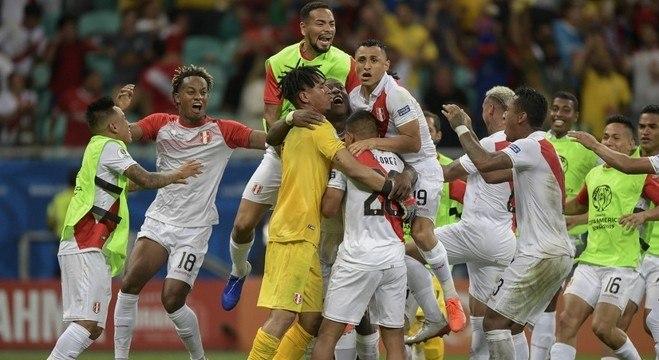 A seleção do Peru que passou às semis de 2019