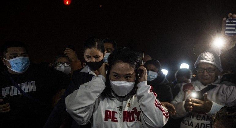 Keiko Fujimori afirmou que não quer conceder a vitória ao adversário, Pedro Castillo