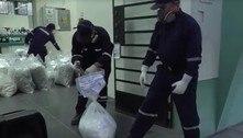 Polícia do Peru faz incineração de 30 toneladas de drogas