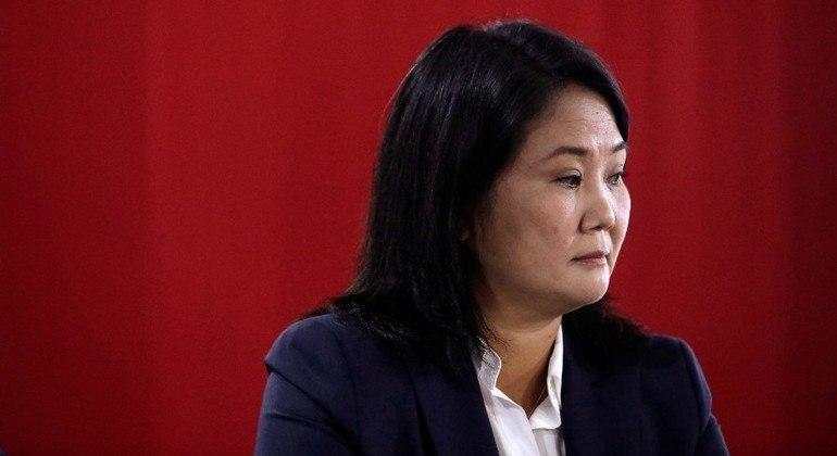 Keiko Fujimori pediu uma auditoria internacional dos resultados da eleição presidencial