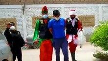Policial se veste de Papai Noel para prender traficante no Peru