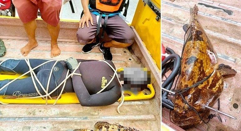 Pescador filipino morreu depois de ter sido arrastado por um peixe empalado com um arpão