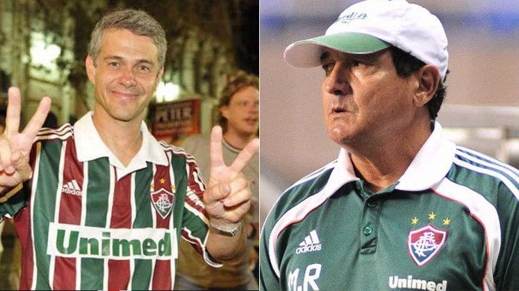 Peters Siemsen e Muricy ramalho: Muricy Ramalho foi o treinador que deu o campeonato brasileiro de 2010 ao Fluminense, quando Peter Siemsen era o presidente. No ano seguinte, após um início ruim do Tricolor Carioca na Copa Libertadores da América, o técnico deixou o cargo e atribuiu a decisão ao cartola que, por sua vez, afirmou que Muricy já tinha um acerto com o Santos. Pouco tempo depois, o técnico realmente foi ao Peixe e no Alvinegro Praiano foi campeão da Libertadores em 2011.