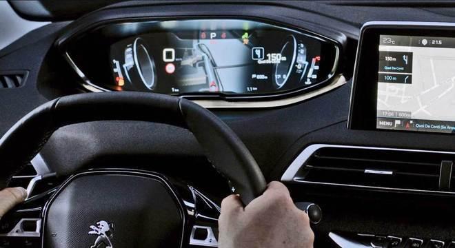 i-cockpit é marca registrada da marca e estará presente com projeção 3D no Peugeot 208