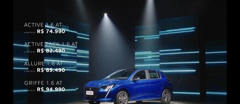 Gama de preços do Peugeot 208: valores de R$ 75 mil a R$ 95 mil na versão Griffe testada