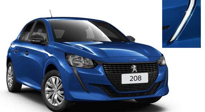 """Peugeot 208 na versão Like: sem cromados e """"black piano"""" e calotas sobre rodas de aço aro 15"""