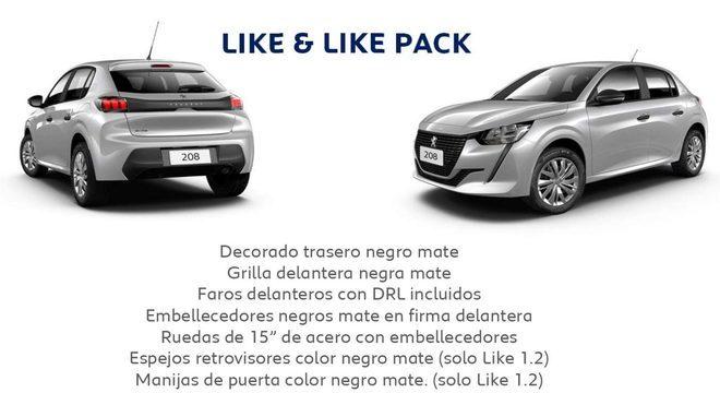 """Conteúdo da versão """"Like"""" e """"Like Pack"""" mais completa na gama do 208 argentino"""
