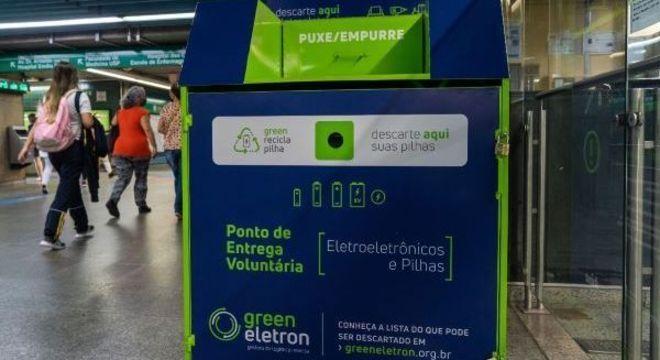Mais de uma tonelada de lixo eletrônico foi descartada nos Pontos de Entrega Voluntária