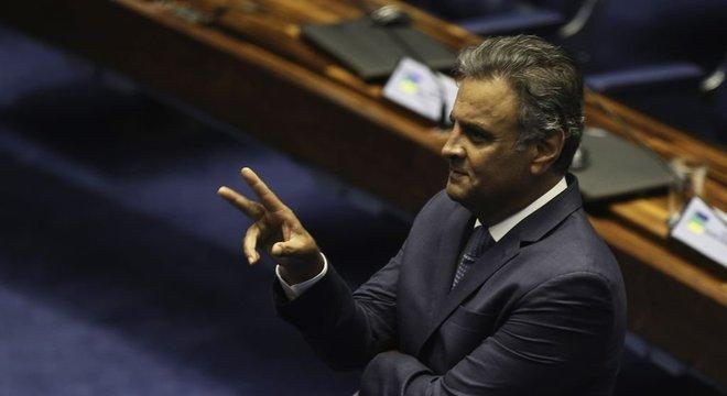 O deputado federal Aécio Neves, que virou réu na Justiça Federal de São Paulo