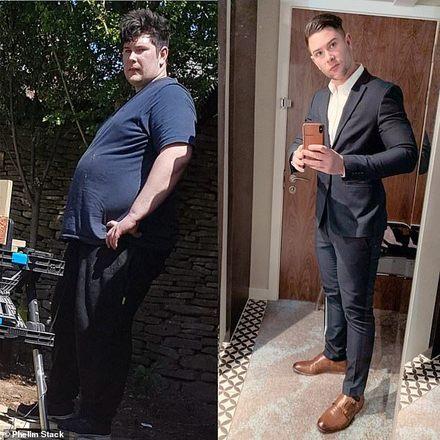 Trocando junk food por uma dieta rica em proteínas, Phelim Stack, de 29, eliminou 76 quilos depois que a ex-namorada o abandonou.O engenheiro aeroespacial ingressou na academia no dia seguinte à saída de sua ex e, desde então,  mudou seus hábitos alimentares