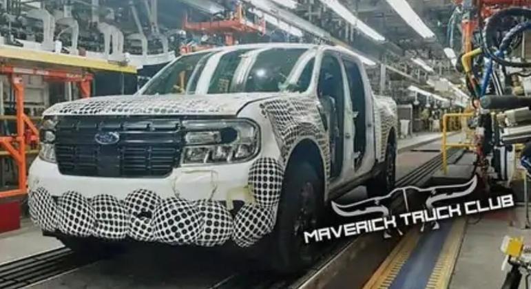 Modelo já foi flagrado na linha de produção