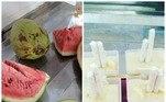 Anote aí o preparo: escolha a base do picolé, água filtrada ou água de côco. Descasque e pique a fruta escolhida em pedaços (cerca de 200g), não esqueça de tirar sementes e caroços. Bata tudo no liquidificador. Despeje o suco em um bandeja de gelo ou forma de picolé. Deixe no freezer até congelar
