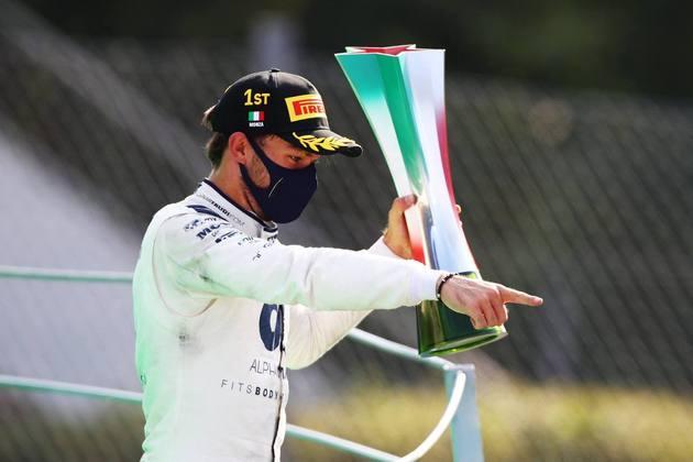 Pierre Gasly, da AlphaTauri, venceu o GP da Itália.