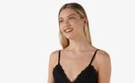 Camisola curta feminina Lilly Liganete com renda preto paravocê se apaixonar. Modelo confeccionado em malha fria, a peça é perfeita paraas melhores noites de sono com muito conforto!