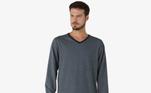 O pijama masculino longo de manga longa moletinho é aescolha ideal para o outono. Esse modelo vai deixar seus dias ainda maisaconchegantes