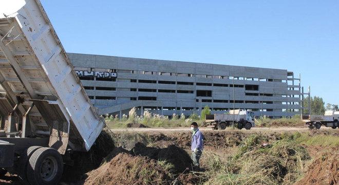 O megaprojeto Pilar Bicentenario, que será usado como um centro de diagnóstico para a covid-19