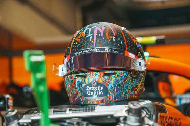 Piloto também trouxe design diferente no capacete