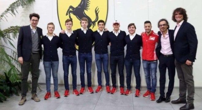 Pilotos da Academia da Ferrari e membros da escuderia