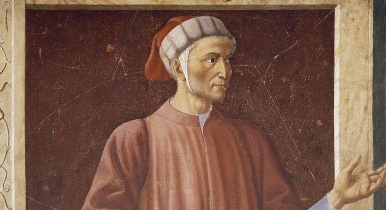 Pintura de Dante Alighieri  por Andrea del Castagno
