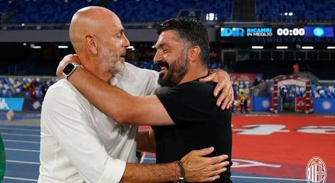Stefano Pioli e Rino Gattuso, amigos e adversários