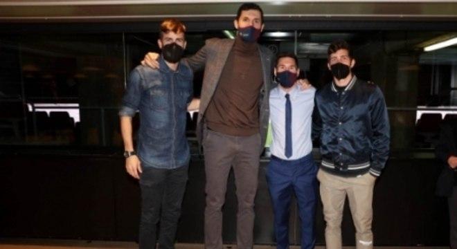 Piqué, Nikola Mirotic, Messi e Sergi Roberto - Barcelona