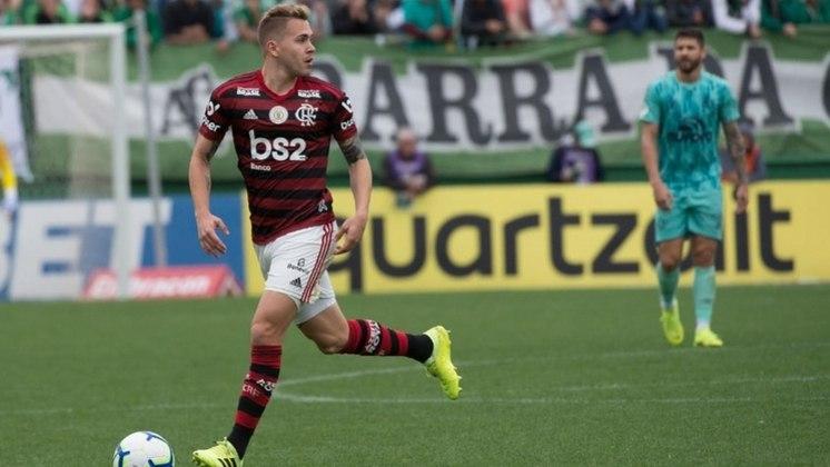 Piris da Motta- Clube: Flamengo - Posição: volante - Idade: 27 anos - Jogos no Brasileirão 2021: 1 - Situação no clube: concorrência na posição e sequência de lesões.