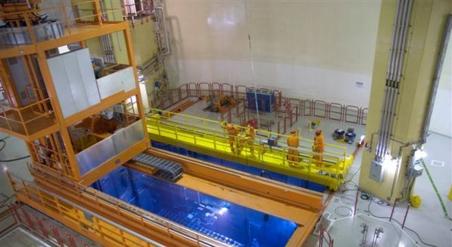 Piscina de armazenamento de combustível nuclear usado, em Angra