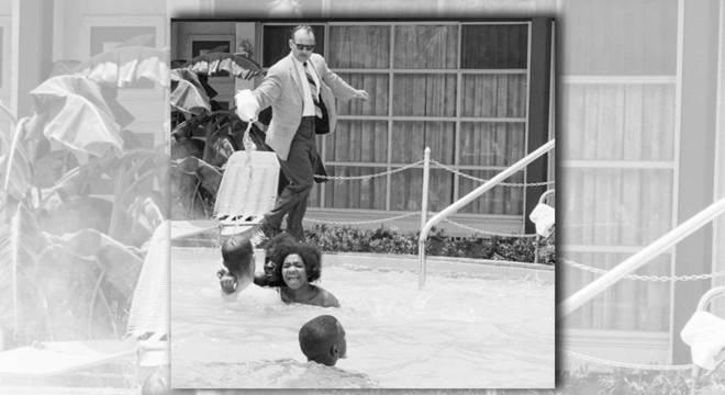 Foto foi tirada em 1964 em um hotel na cidade de Saint Augustine, na Flórida