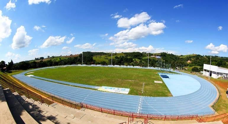 Pista de atletismo do Centro Nacional de Desenvolvimento do Atletismo (CNDA), em Bragança Paulista (SP).
