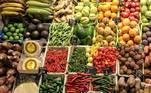 legumes, verduras, frutas